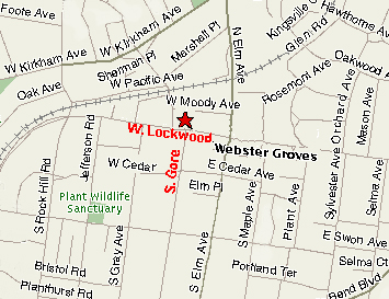 map of webster groves location